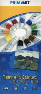 Farby tempery Prima Art 12 kolorów 12 ml w tubie - 2857724267
