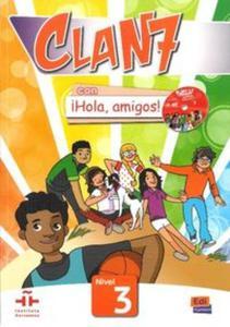 Clan 7 con ?Hola, amigos! 3- podręcznik + płyta CD-ROM - 2825867604