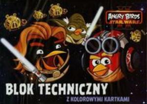 Blok techniczny A4 Angry Birds z kolorowymi kartkami 10 kartek - 2825869726