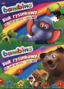 Blok rysunkowy A4 Bambino z kolorowymi kartkami 16 kartek 10 sztuk mix - 2857734868