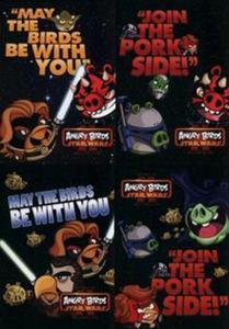 Zeszyt A5 Angry Birds Star Wars w kratkę 60 kartek 10 sztuk mix - 2853571762