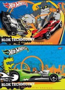 Blok techniczny A4 Hot Wheels z kolorowymi kartkami 10 kartek 10 sztuk - 2857738401