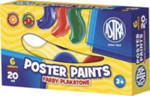 Farby plakatowe Astra 6 kolorów - 20 ml - 2857740925