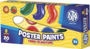 Farby plakatowe Astra 8 kolorów 20 ml - 2857740928