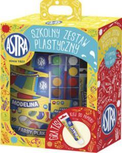 Szkolny zestaw plastyczny - klej gratis - 2825876712