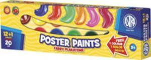 Farby plakatowe Astra 13 kolorów - 20 ml 12+1 kolor gratis - 2857741499