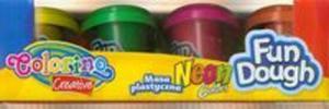 Masa plastyczna Neon 4 kolory Colorino Kids - 2825880423