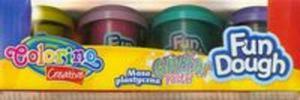 Masa plastyczna Pastele z brokatem 4 kolory - 2825880424