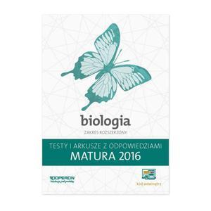 Biologia. Matura 2016. Testy i arkusze. Zakres Rozszerzony - 2851067759