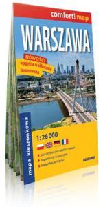 Warszawa laminowany plan miasta 1:26 000 mapa kieszonkowa - 2825884245