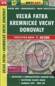 Velka Fatra Kremnicke Vrchy Mapa turystyczna 1:40 000 - 2857749025