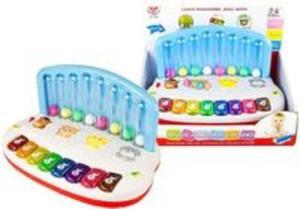 Zabawka dla maluszka pianinko latające piłeczki