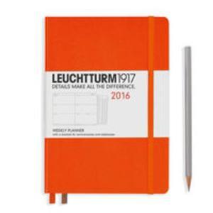 Kalendarz Leuchtturm1917 tygodniowy 2016 Medium pomarańczowy - 2825885267