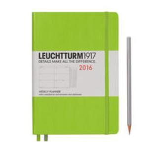 Kalendarz Leuchtturm1917 tygodniowy 2016 Medium limonkowy - 2825885268