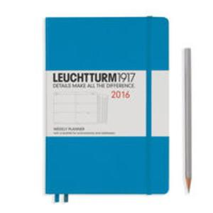 Kalendarz Leuchtturm1917 tygodniowy 2016 Medium lazurowy - 2825885270