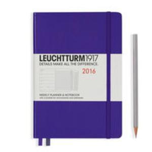 Kalendarz Leuchtturm1917 tygodniowy 2016 z notatnikiem Medium fioletowy - 2825885277