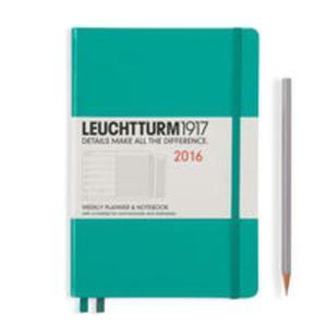 Kalendarz Leuchtturm1917 tygodniowy 2016 z notatnikiem Medium szmaragdowy - 2853586614