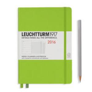 Kalendarz Leuchtturm1917 tygodniowy 2016 z notatnikiem Medium limonkowy - 2825885289