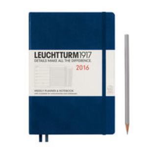 Kalendarz tygodniowy 2016 z notatnikiem Medium morski - 2825885300