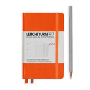 Kalendarz tygodniowy 2016 z notatnikiem Pocket pomarańczowy - 2857749755