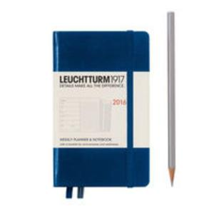 Kalendarz tygodniowy 2016 z notatnikiem Pocket morski - 2857749761
