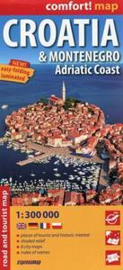 Croatia i Montenegro Adriat Coast mapa samochodowo-turystyczna 1:300 000 - 2851070141
