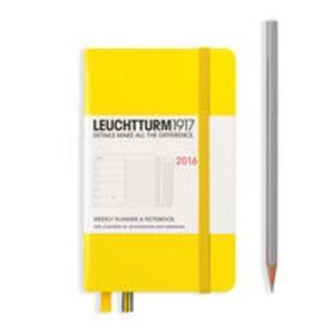 Kalendarz Leuchtturm1917b tygodniowy 2016 z notatnikiem Pocket cytrynowy - 2825885464