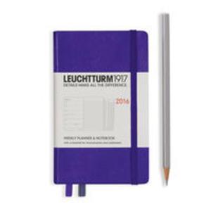 Kalendarz Leuchtturm1917 tygodniowy 2016 z notatnikiem Pocket fioletowy - 2825885469