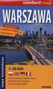 Warszawa laminowany plan miasta 1:26 000 mapa kieszonkowa - 2825886761