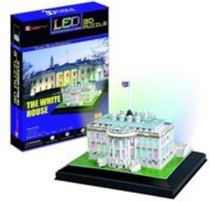 Puzzle 3D LED Biały Dom 56 elementów - 2825893724