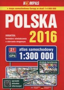 Atlas samochodowy Polska 2016 1:300 000 - 2825897071