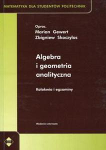 Algebra i geometria analityczna - 2853599115
