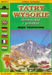 Tatry Wysokie Słowackie i polskie. Mapa turystyczna - 2851083734