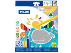 Kredki Milan maxi super soft 12 kolorów - 2857768822