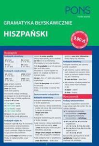 Gramatyka błyskawicznie. Hiszpański - 2857770787