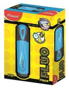 Zakreślacz fluo peps niebieski pudełko - 2857771293