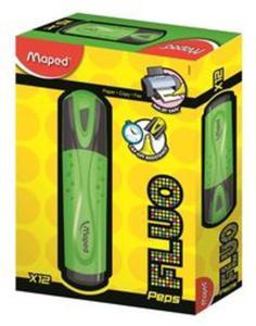 Zakreślacz Fluo peps zielony pudełko 12 sztuk - 2857771308