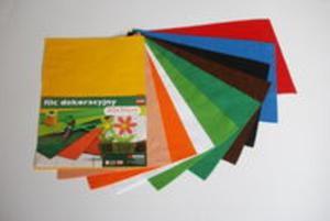 Filc w arkuszach 20cm x 30cm Kolor czerwony 5 sztuk - 2857771926