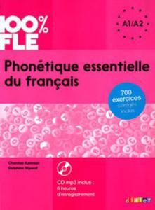 100% FLE Phonétique essentielle du français niv. A1/A2 - Livre + CD - 2857772378
