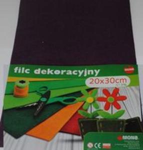 F51- Filc w arkuszach 20cm x 30cm. Kolor ciemny fiolet 5 sztuk - 2857772795