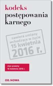 Kodeks postepowania karnego St.pr 16.04.2016 - 2825913810