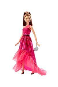 Barbie lalka Modny bal różowa suknia - 2857780365