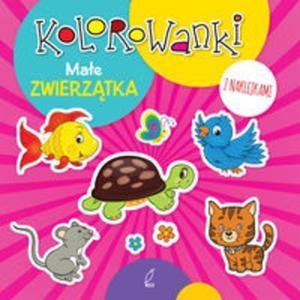 Kolorowanki z naklejkami. Małe zwierzątka - 2857780675