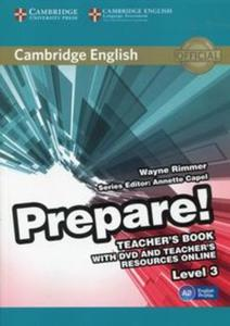 Prepare! 3 Teacher's Book with DVD and Teacher's Resources Online - 2853621373