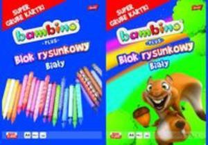 Blok rysunkowy A4 Bambino Plus 20 kartek 10 sztuk mix - 2857785456