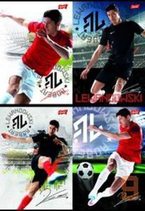 Zeszyt A5 Robert Lewandowski w trzy linie 16 kartek 15 sztuk mix - 2857786796