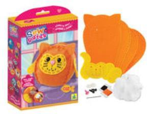 Zestaw kreatywny uszyj filcowego kotka - 2857800270