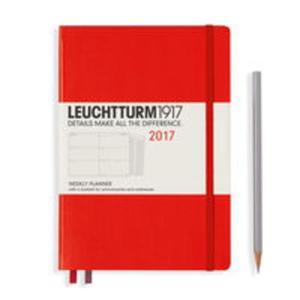 Kalendarz tygodniowy 2017 Medium czerwony Leuchtturm1917 - 2840815656