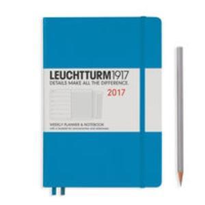 Kalendarz tygodniowy z notatnikiem 2017 Medium lazurowy Leuchtturm1917 - 2840815855