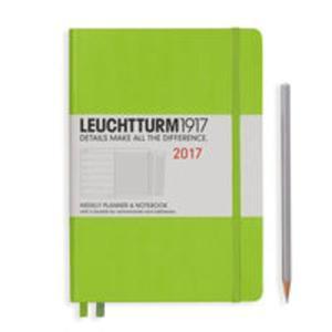 Kalendarz tygodniowy z notatnikiem 2017 Medium limonkowy Leuchtturm1917 - 2840815857